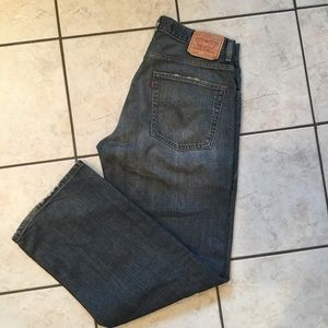 Mens LEVIS 569 Loose Straight Fit Jeans 33 x 32